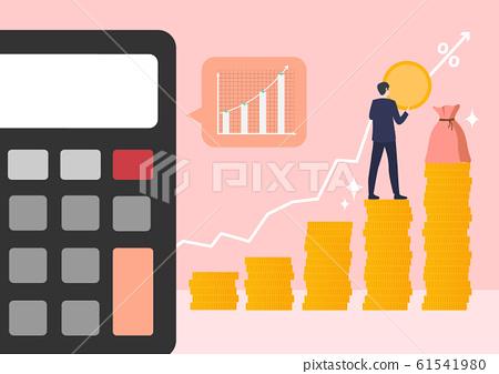 Financial concept, increasing arrow illustration 012 61541980