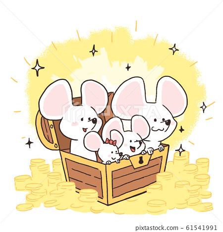 2020 New Year of Rat greeting card design illustration 005 61541991