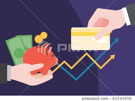Financial concept, increasing arrow illustration 015 61542056