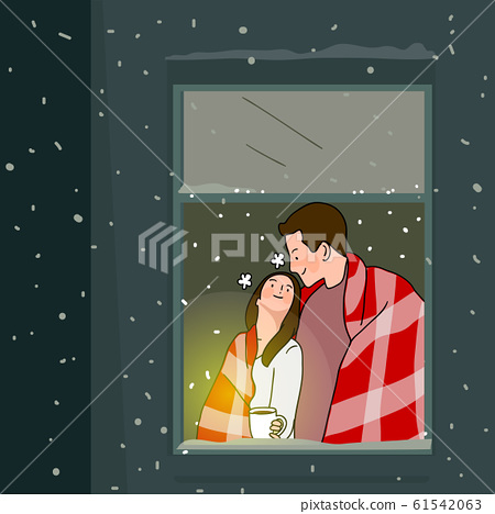 Wintertime concept, ways to stay warm or fight the winter cold illustration 004 61542063