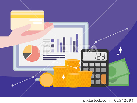 Financial concept, increasing arrow illustration 010 61542094