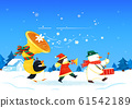 Merry Christmas greeting card template illustration 006 61542189