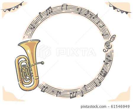 風琴和樂譜,音符框架材料 61546949
