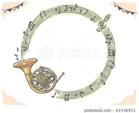 喇叭和樂譜,音符框架材料 61546951