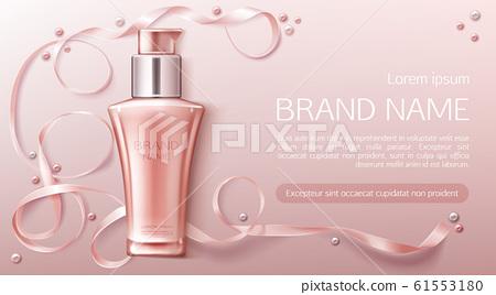Cosmetics bottle mockup spa natural beauty product 61553180