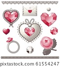 Collection of vector elements for Valentine's Day. 61554247