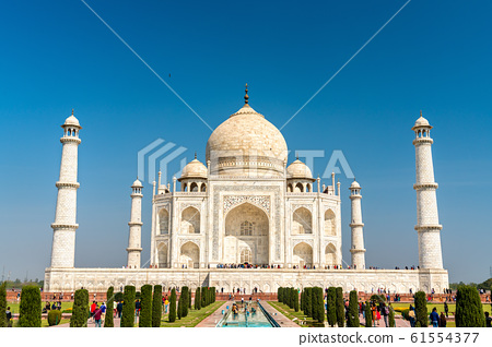 The Taj Mahal, the most famous monument of India. Agra - Uttar Pradesh 61554377