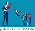 Human team fighting Artificial Intelligence. 61554567