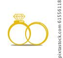 Wedding rings vector icon 61556118