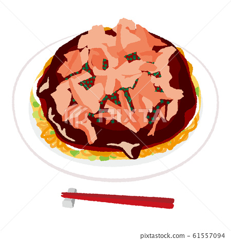 Illustration of Okonomiyaki 61557094