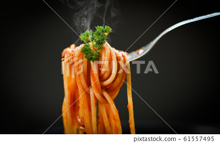 Spaghetti bolognese italian pasta with parsley in 61557495