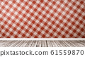 Empty Room with Restaurant Table Cloth Style Red 61559870