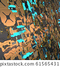 Circuit board futuristic server code processing. Angled view multicolor technology black background. 3d 61565431