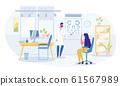 Vision Checkup and Eye Examination in Hospital 61567989