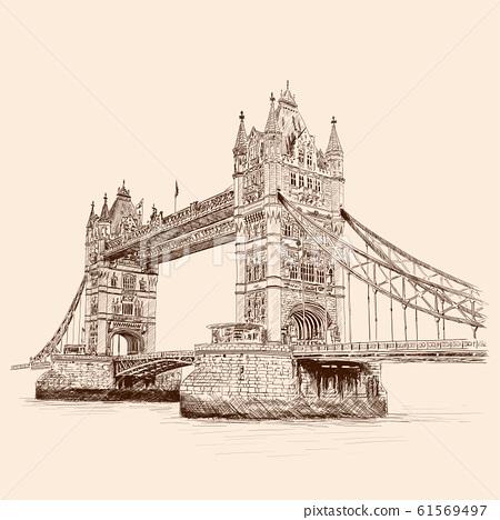 Bridge in london. 61569497