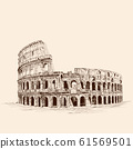 Colosseum in Italy. 61569501