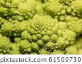 Detail of a Romanesco broccoli 61569739