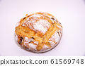 Tomato bread on a white background 61569748