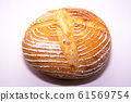Sourdough on a white background 61569754