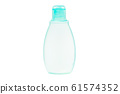 shower gel bottle close-up on a white background 61574352