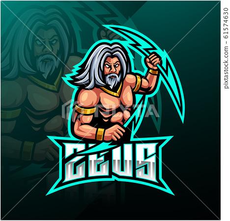 Zeus sport mascot logo design 61574630