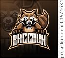 Raccoon esport mascot logo design 61574634
