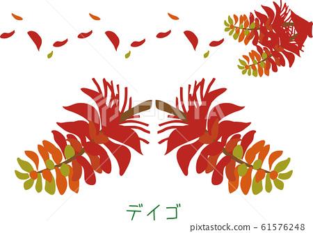Tropical island Amami plant Deigo 61576248