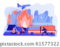 Prevention of wildfire concept vector illustration. 61577322