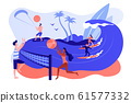 Summer beach activities concept vector illustration. 61577332
