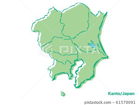 관동 지방 · 일본 지역지도 61578091