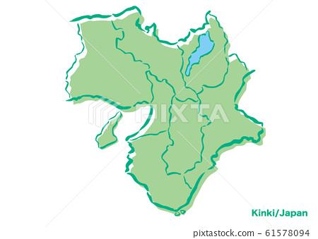 Kinki region / Japan area map 61578094