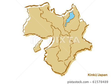 긴키 지방 · 일본 지역지도 61578489