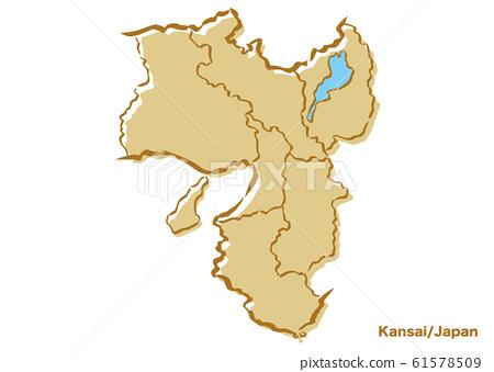 간사이 지방 · 일본 지역지도 61578509