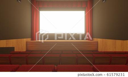 電影院沒有人坐在折疊圖24 61579231