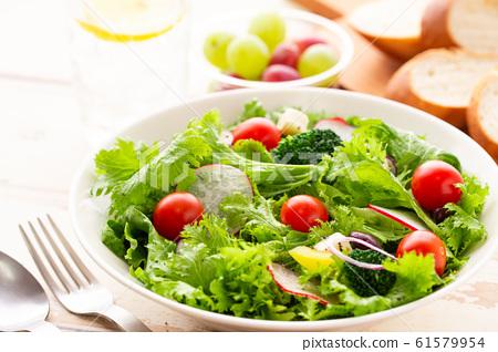 多彩的蔬菜沙拉早餐健康 61579954