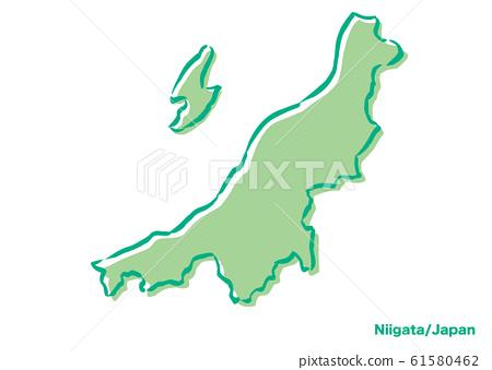 니가타 현 일본지도 61580462