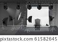 photo studio interior with empty armchair 61582645