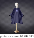 realistic hairdresser apron, cape on mannequin 61582883