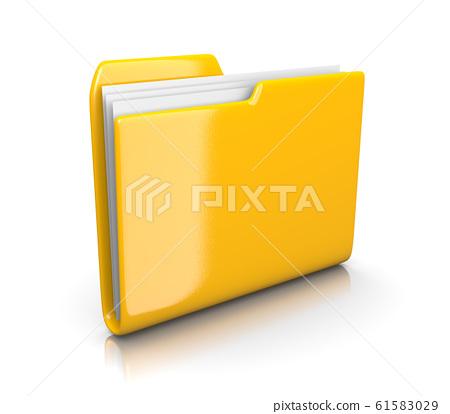 Yellow Document Folder 61583029