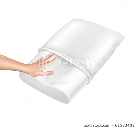 3d realistic pillow with memory effect 61583408