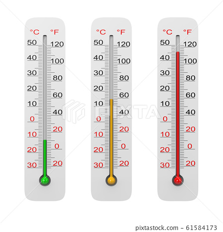 Thermometer Set Isolated on White 61584173