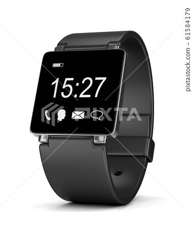Smartwatch Digital Clock on White 61584179