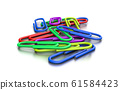 Heap of Colorful Paperclips 61584423