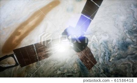 Juno sattelite orbiting Jupiter 61586418