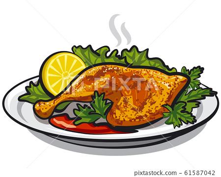 roasted chicken leg 61587042