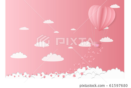Illustration of love and valentines day Make a 61597680