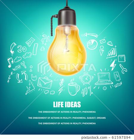 Creative ideas concept illustration 61597894