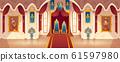 castle throne hall, interior of royal ballroom 61597980
