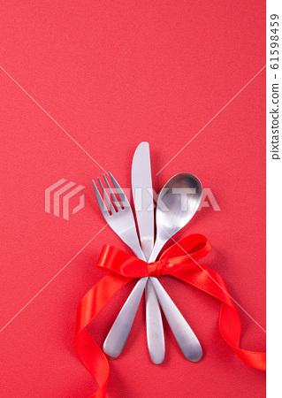 情人節 餐廳 盤子 頂視圖 大餐 Valentine's Day Plate バレンタイン 61598459