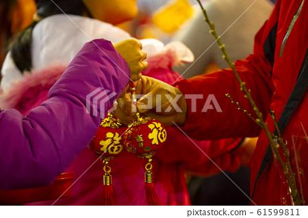 中國年,裝飾品,新年,中国の年、装飾、新年、Chinese year, decorations, n 61599811